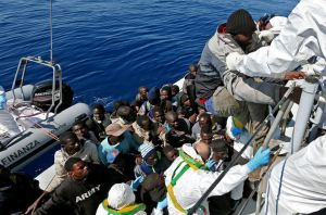 Inmigrantes mar mediterraneo